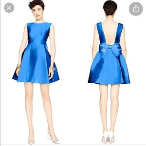 NWOT KATE SPADE Blue Open Bow Back Fit/Flare Mini